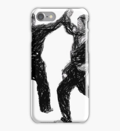 Defending against strikes to the face iPhone Case/Skin