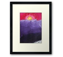 Fire on the Mountain original painting Framed Print