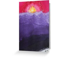 Fire on the Mountain original painting Greeting Card