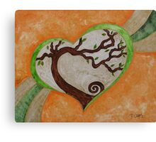 The love of a tree Canvas Print