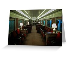 First Class Lounge Car - UPRR - Durham Museum, Omaha Series Greeting Card