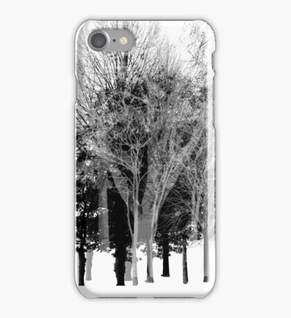 Gray-scale Forest iPhone Case/Skin