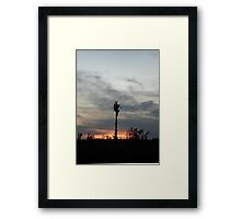 My feet to the fire... Framed Print