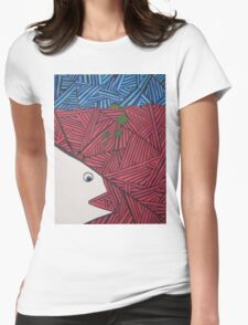 Abstract Fish in Lined Ocean Womens Fitted T-Shirt
