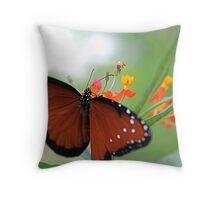 Fluttering Queen Throw Pillow