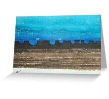 Long Dusk original painting Greeting Card