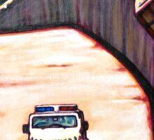 La Frontera - The Border - Loteria Sticker