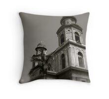 Old church ruins ,Managua Throw Pillow