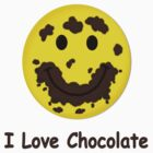I Love Chocolate Smiley Face by Linda Allan