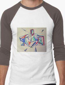 Rosie Blue Robot Men's Baseball ¾ T-Shirt