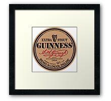 Old Style Guinness Logo - David Gilmour Framed Print