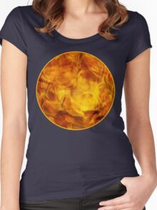 Orange Lamp Glass  Women's Fitted Scoop T-Shirt