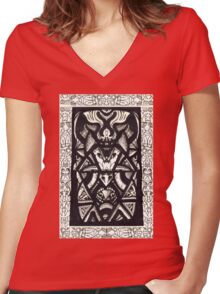 Insect King by Brian Benson Women's Fitted V-Neck T-Shirt