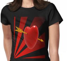 Cupids Arrow Womens Fitted T-Shirt