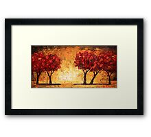 The Light Before the Trees Framed Print