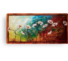 The Tangle of Daisies Canvas Print
