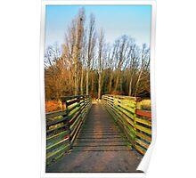 Footbridge, Hartham, Hertford - Hertfordshire (Colour Version) Poster