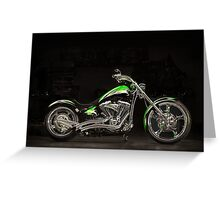 Bub's Customs Harley Davidson Greeting Card
