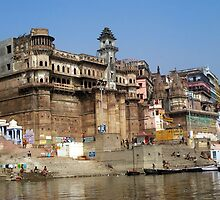 Ganges Ghats Architecture by Angie Spicer