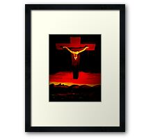 This is not about Religion. Framed Print