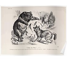 Cartoons by Sir John Tenniel selected from the pages of Punch 1901 0079 Only His Play Poster