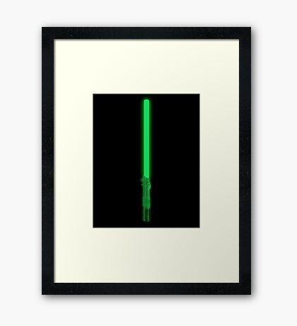 Neo´s Lightsaber Framed Print