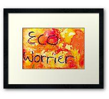 Eco Worrier Framed Print