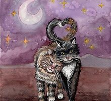 Cats in love by Pendientera