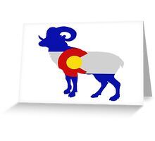 Colorado Big Horn Sheep Greeting Card