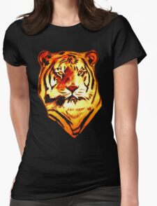 tiger t-shirt Womens Fitted T-Shirt