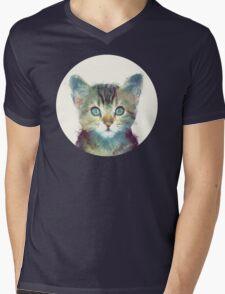 Cat // Aware Mens V-Neck T-Shirt