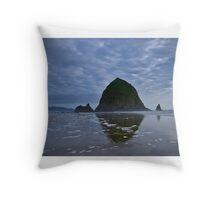 Haystack Rock Throw Pillow