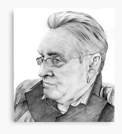 Alan Glover Pencil Portrait Canvas Print