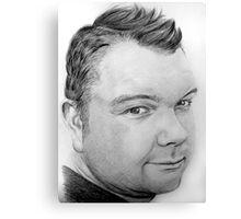 Stephen Pencil Portrait Canvas Print