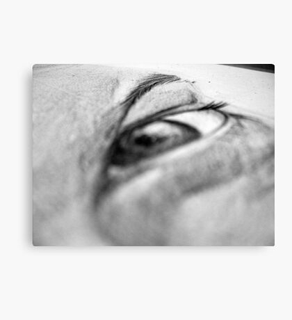 Stephen Pencil Portrait - Detail Canvas Print
