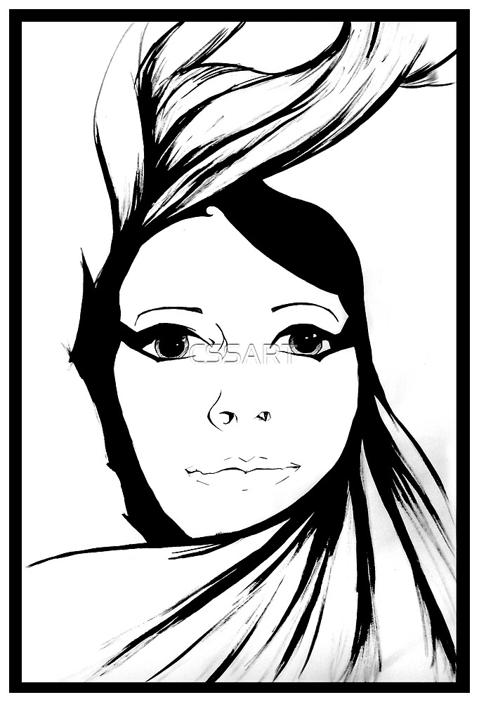 Self portrait - Swirl by CSSART