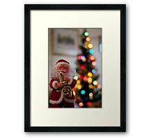 musical santa Framed Print