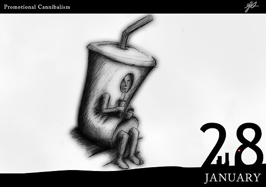 28 January - Promotional Cannibalism by 365 Notepads -  School of Faces