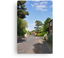 Main Street,Ticknall Village Canvas Print