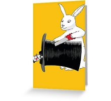 Rabbit vs. Magician Greeting Card