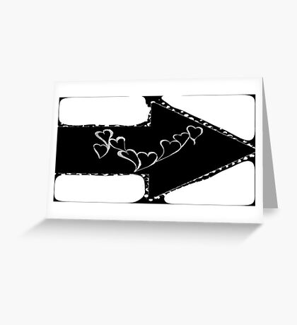 Black & White Love Greeting Card