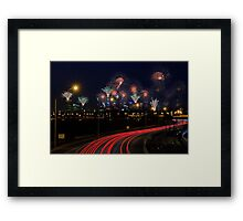 Australia Day Skyworks  Framed Print