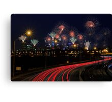 Australia Day Skyworks  Canvas Print