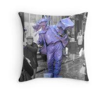 York Street Entertainer Throw Pillow