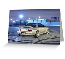 Silver Nissan R32 Skyline GTR #1 Greeting Card