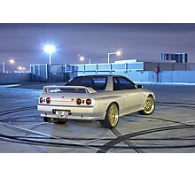 Silver Nissan R32 Skyline GTR #1 Photographic Print