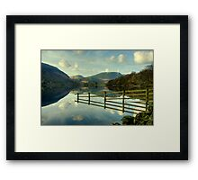 The Fence and Mellbreak Framed Print