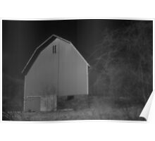 Barn in infrared Poster