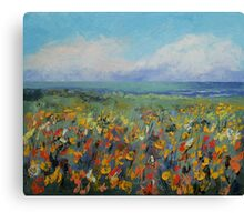 Wildflower Seascape Canvas Print