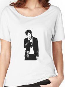 J-Hope Dark & Wild Concept Photo Black & White Women's Relaxed Fit T-Shirt